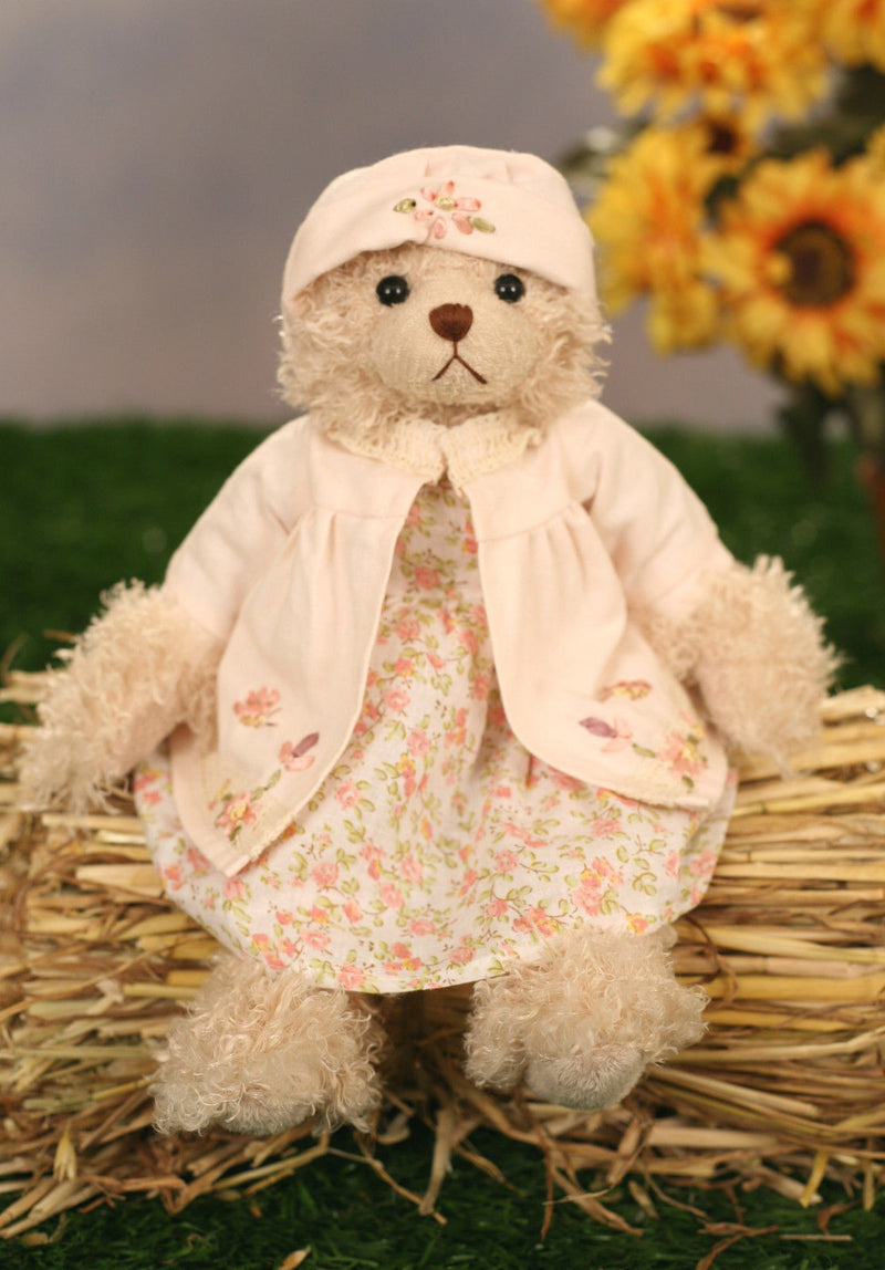 Handmade Teddy Bear Uncle Beans Bears 'Jodie' Collectable Gift 30cms BRAND NEW