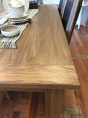Dining Table 180x90cm French Provincial USA Oak Classic Straight Leg NEW