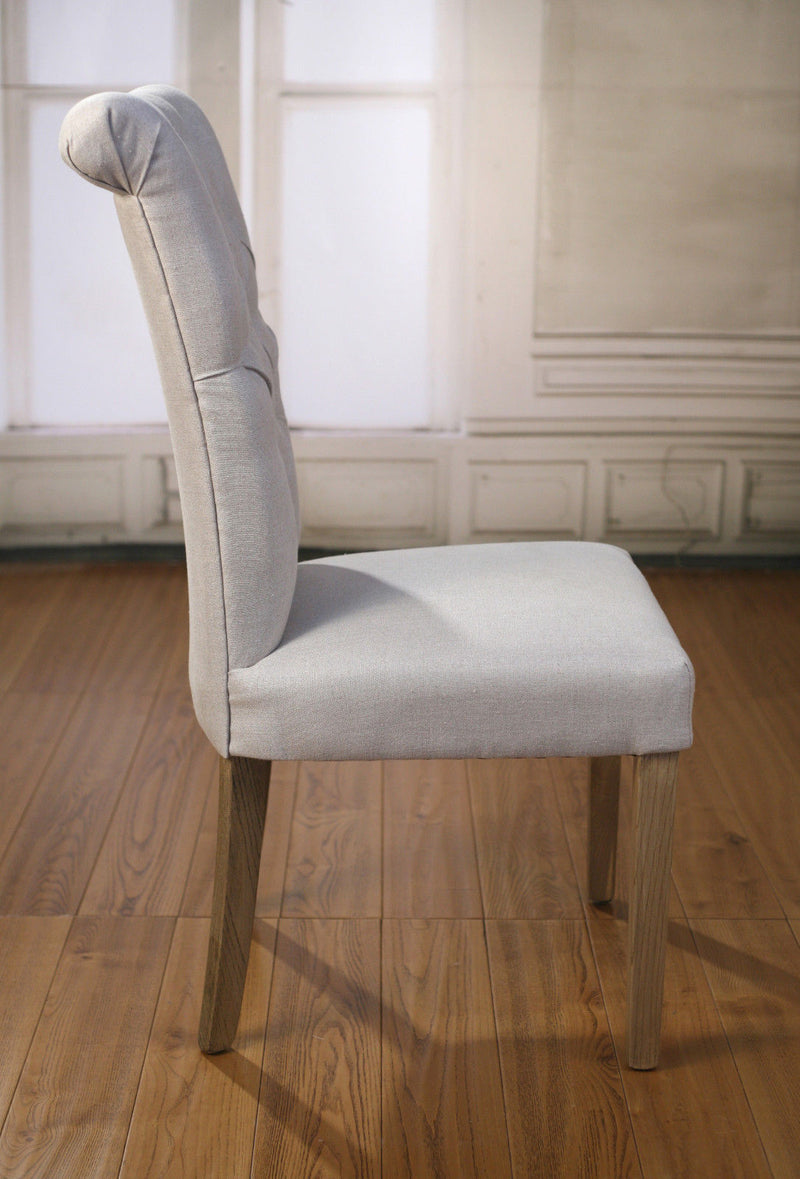 Dining Chair Linen French Provincial Oak