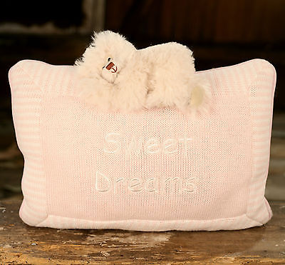 Cushion Throw Pillow Sweet Dreams Embroidered Girls Filled 30cms BRAND NEW