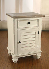 Bedside Chest French Provincial Timber Top with Door Plantation Bedside Table