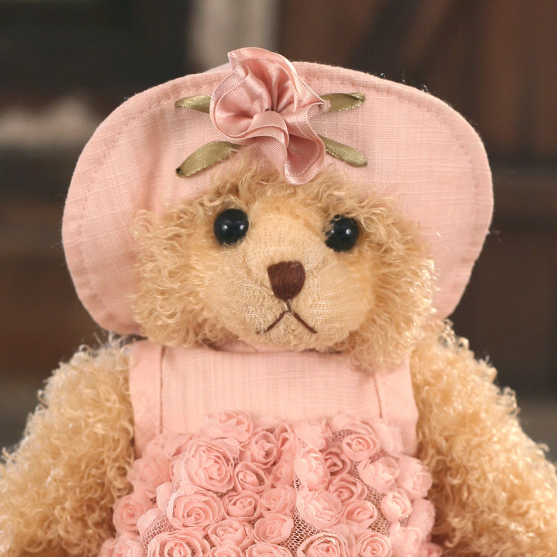 Teddy Bear 'Joelene' Settler Bears Handmade Pink Dress Gift 25cms BRAND NEW