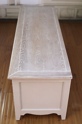 Entertainment TV Unit French Provincial Timber Top Antique Grey Media