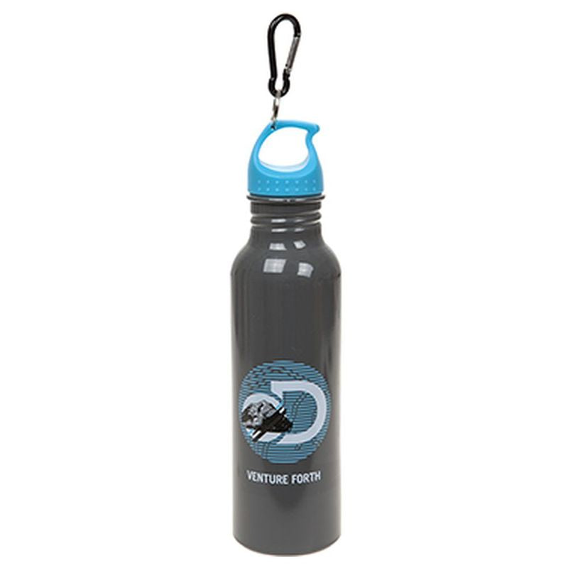 DA 750ml Wide Mouth Aluminium Water Bottle (Grey/Blue)