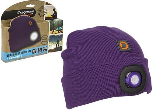 Discovery Adventures UK Adult Beanie with Lights