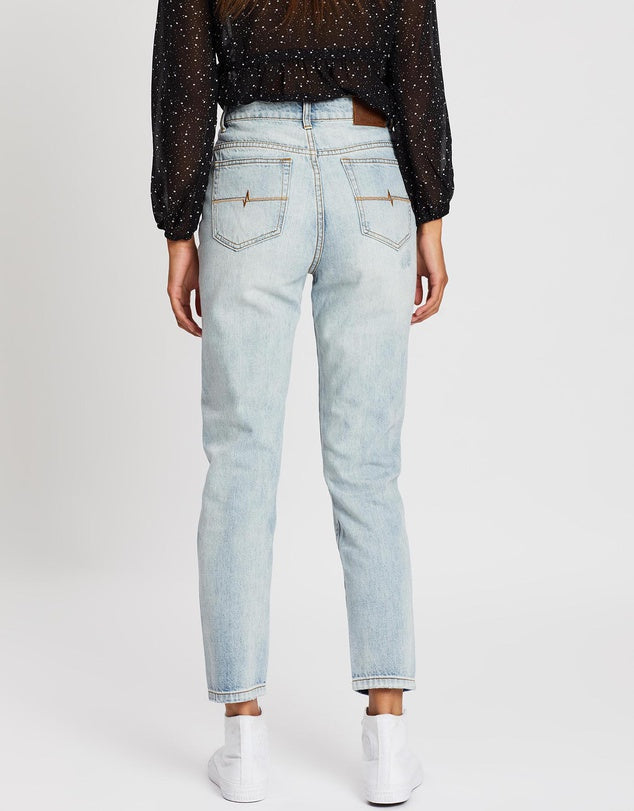 Rusty High Rise Straight Jeans