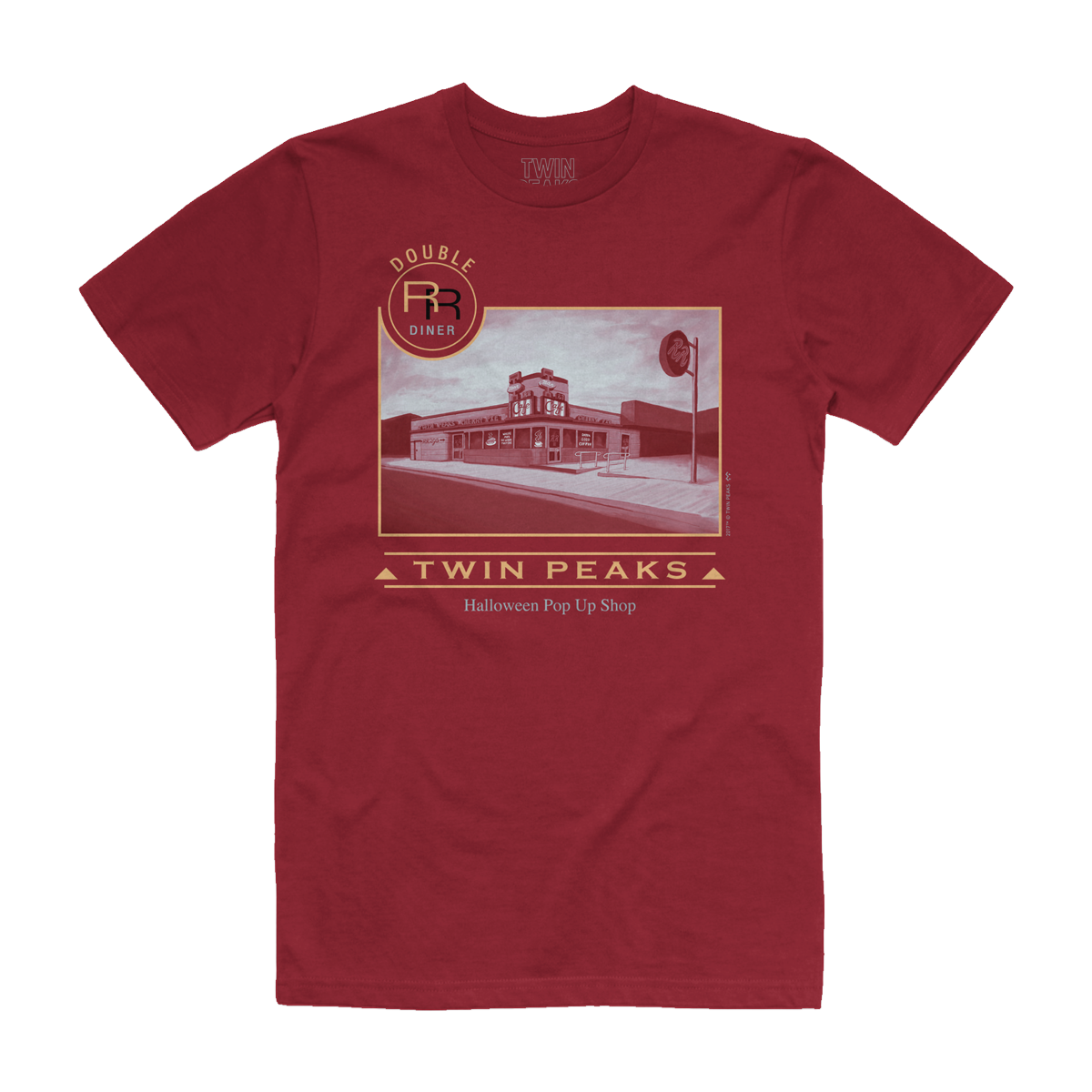Double R Pop Up T-Shirt (Maroon)