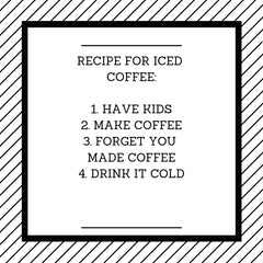 Recipe for iced coffee