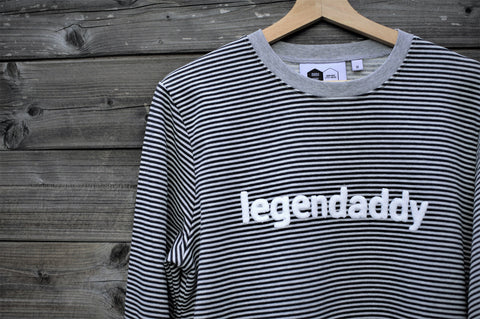 Sweater | Legendaddy | Dad | Zwart Grijs Gestreept