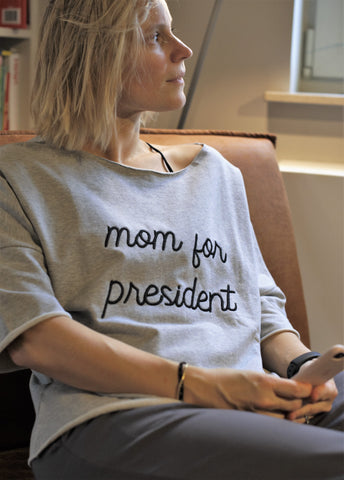 Chillwear | Sweater | Grijs | Mom for President