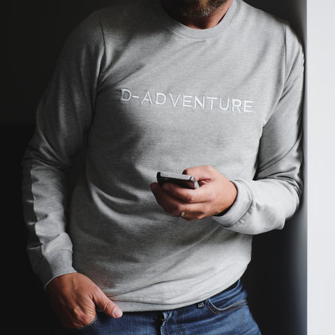 Sweater | D-adventure | Dad | Grijs