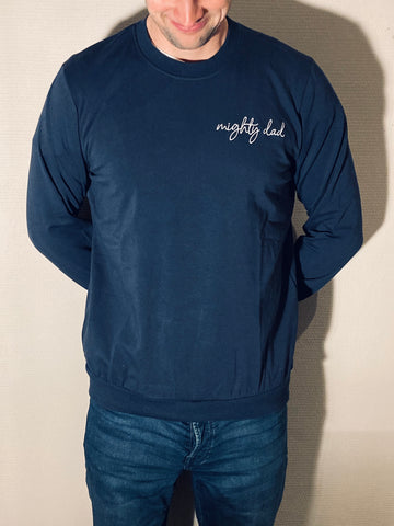 Sweater | Mighty dad | Blauw