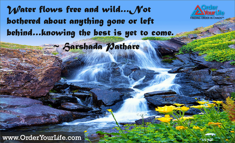 Water flows free and wild…Not bothered about anything gone or left behind…knowing the best is yet to come. ~ Harshada Pathare