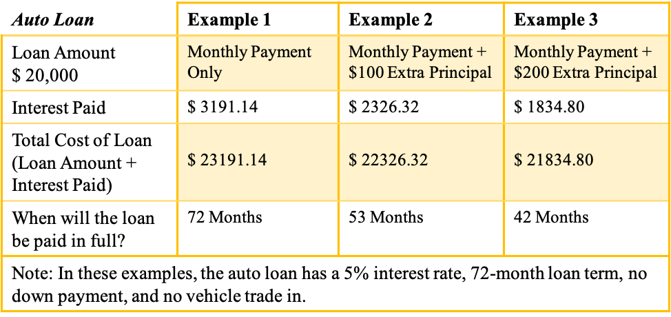 Auto Loan Examples