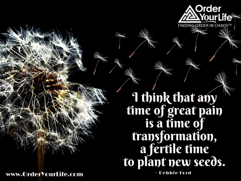 I think that any time of great pain is a time of transformation, a fertile time to plant new seeds. ~ Debbie Ford