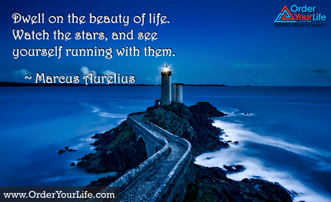 Dwell on the beauty of life. Watch the stars, and see yourself running with them. ~ Marcus Aurelius