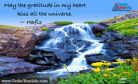 May the gratitude in my heart kiss all the universe. ~ Hafiz