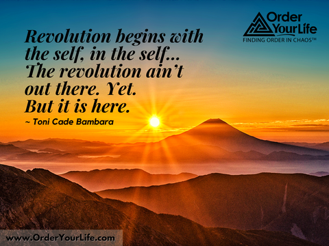 Revolution begins with the self, in the self…The revolution ain't out there. Yet. But it is here. ~ Toni Cade Bambara