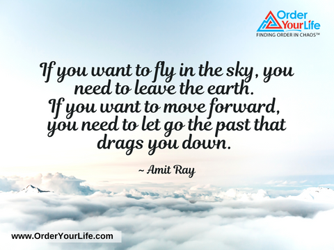 If you want to fly in the sky, you need to leave the earth. If you want to move forward, you need to let go the past that drags you down. ~ Amit Ray