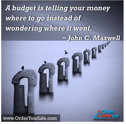 A budget is telling your money where to go instead of wondering where it went. ~ John C. Maxwell