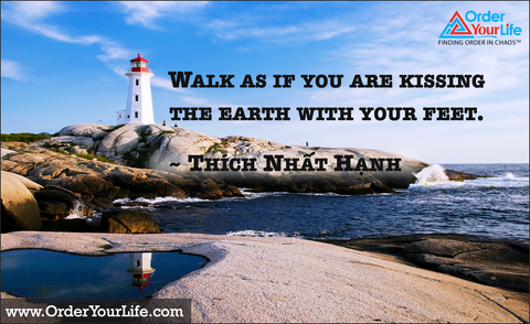 Walk as if you are kissing the earth with your feet. ~ Thích Nhất Hạnh