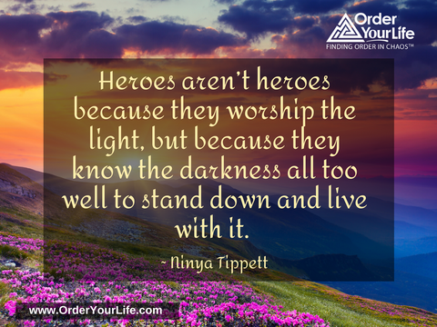 Heroes aren't heroes because they worship the light, but because they know the darkness all too well to stand down and live with it. ~ Ninya Tippett