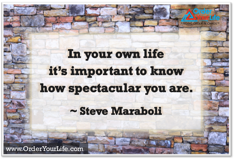 In your own life it's important to know how spectacular you are. ~ Steve Maraboli