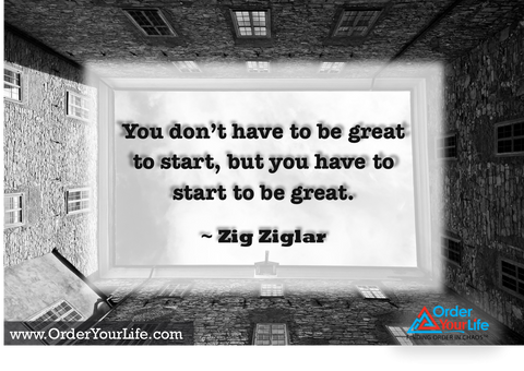 You don't have to be great to start, but you have to start to be great. ~ Zig Ziglar