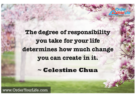 The degree of responsibility you take for your life determines how much change you can create in it. ~ Celestine Chua