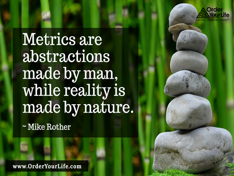 Metrics are abstractions made by man, while reality is made by nature. ~ Mike Rother