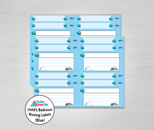 Child's Room Moving Labels (Blue)