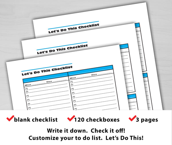 Let's Do This Checklist (Blank Checklist)