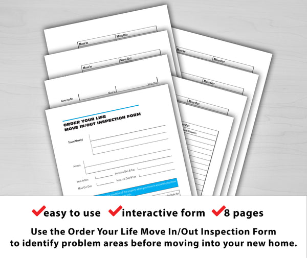 Order Your Life Move In/Out Inspection Form