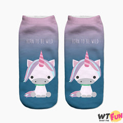 Chaussettes courtes Licorne Horn to be Wild