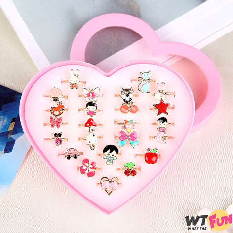 Lot de 10 Bagues Adorables et Amusantes