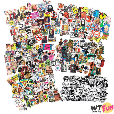 Tempête de Stickers ! Super packs de 50 Autocollants Fun