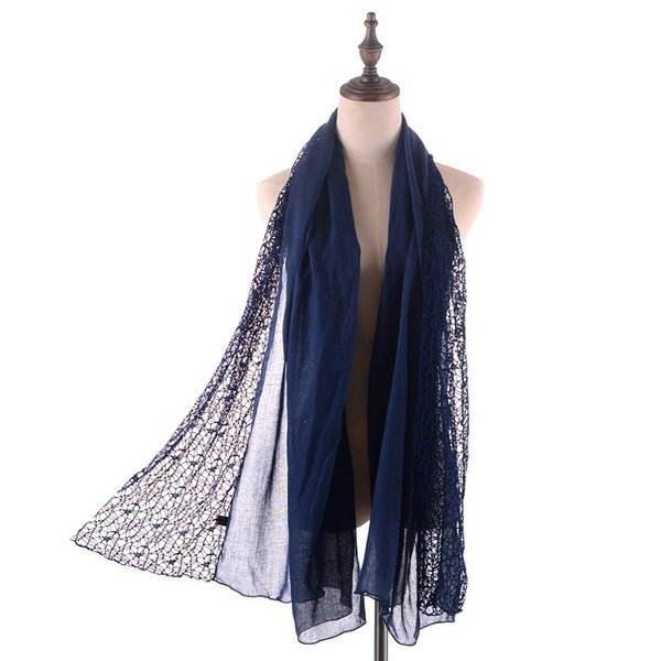 GERINLY Hollw Lace Scarf