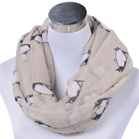 GERINLY Cute Penguin Infinity Scarf
