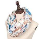 GERINLY Owl Squirrel Circle Scarf
