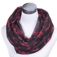GERINLY Lovely Horse Circle Scarves