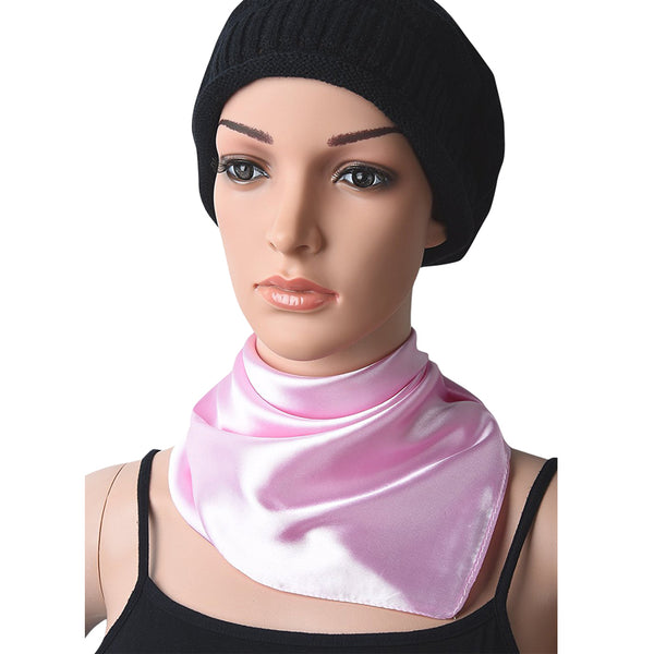 GERINLY Solid Color Kerchief Head Scarf