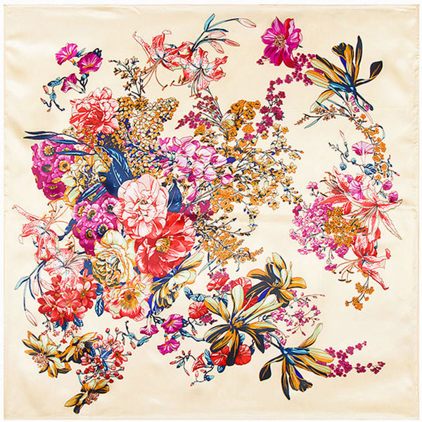 GERINLY Bloom Flowers Neckerchief