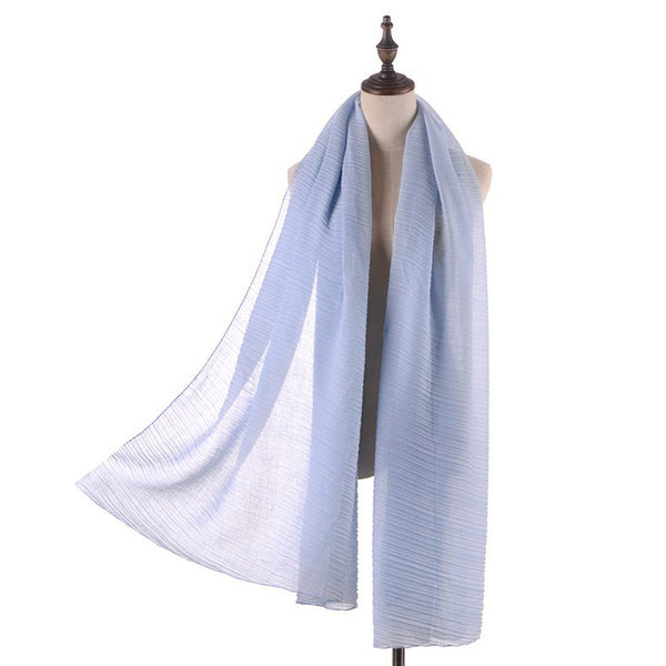 GERINLY Lightweight Pure Wrinkle Scarf