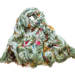 GERINLY Lovely Flowers Birds Scarf