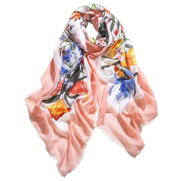 GERINLY Bloom Spring Flowers Scarf