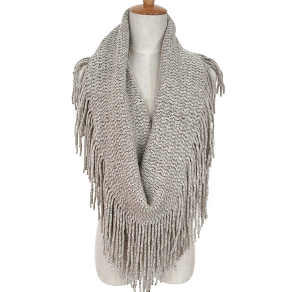 GERINLY Long Tassel Ring Scarf