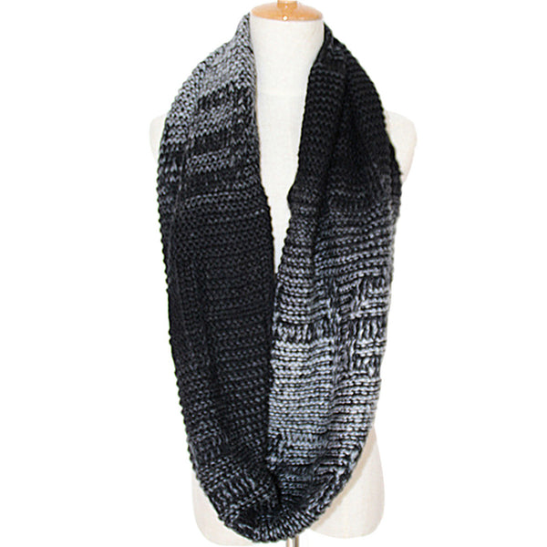 GERINLY Ombre Letter Loop Scarf
