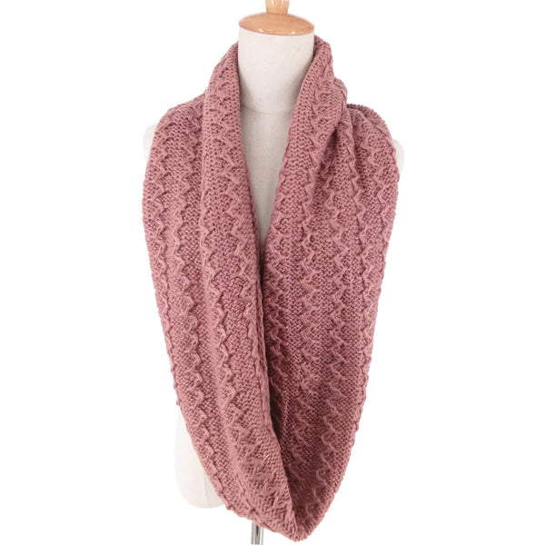 GERINLY Pure Knit Circle Scarf