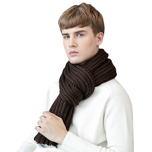 GERINLY Knit Warm Pure Scarf