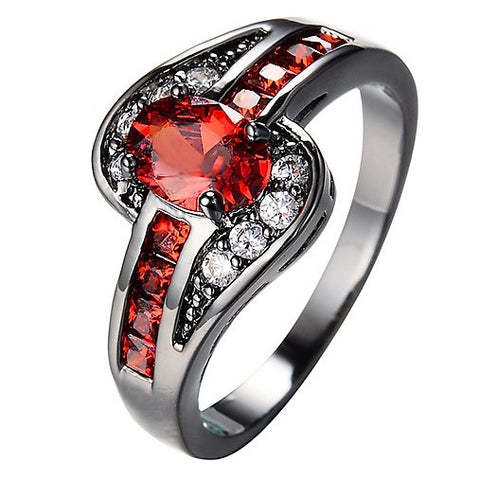 Red Oval Fashion Ring